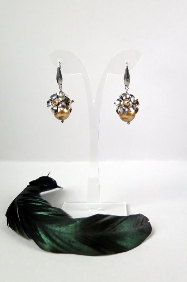 Auskarai su Swarovski perlais