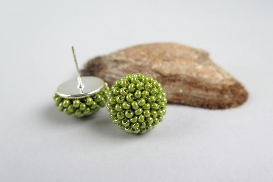 "Žali auskarai ""Gervuogėlės"""